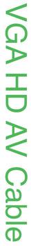 Intec XBox 360 VGA HD AV Cable Green Text