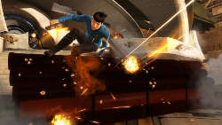 Spock Jumping Over a Barrier