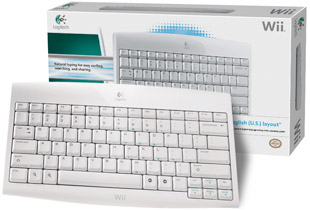 Wii Logitech Cordless Keyboard with box