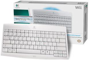 Wii Logitech Cordless Keyboard with box