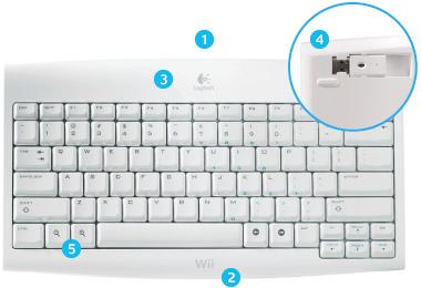 Wii Logitech Cordless Keyboard
