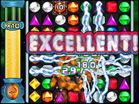 Flame and Lightning power gems in Bejeweled Twist