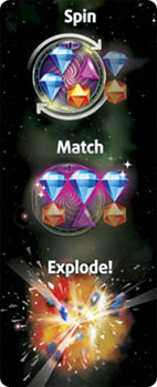 Bejeweled Twist Spin Match Explode game illustration