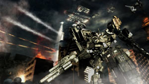 A large armored core mech from Armored Core V