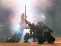 The explosively destuctive power of 'Over' weapons in Armored Core V