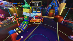 Trapeze gameplay from Active Life: Magical Carnival