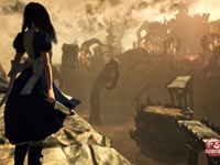 Alice overlooking a ruined Wonderland in Alice: Madness Returns