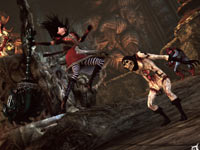 Alice battling multiple enemies in the Pit in Alice: Madness Returns