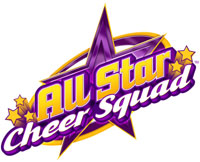 'All Star Cheer Squad' game logo for DS