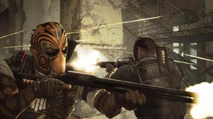 Bravo and Alpha fighting back-to-back in Army of TWO The Devil's Cartel