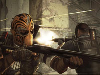 Bravo and Alpha fighting back to back in Army of TWO The Devil's Cartel