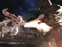 Asura battling a fellow god in Asura's Wrath