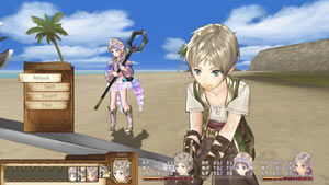Assigning battle commands for party members in Atelier Totori: The Adventurer of Arland