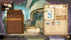Sythesizing items in Atelier Totori: The Adventurer of Arland