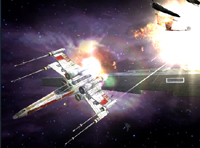 X-wing in dogfight
