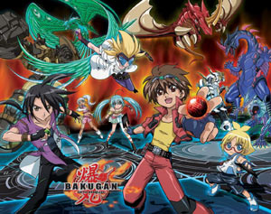 Characters and Bakugan from 'Bakugan: Battle Brawlers'