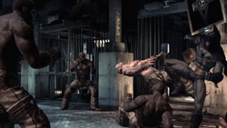 Batman in hand to hand combat in 'Batman: Arkham Asylum'