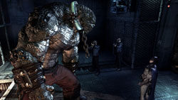 The huge Killer Croc in 'Batman: Arkham Asylum'