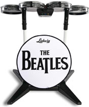 The Ludwig/The Beatles branded Rock Band drum kit for The Beatles: Rock Band