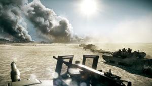 Riding point on tank column in Battlefield 3