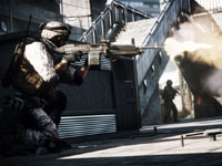 Taking fire while on the move in a close, urban environment in Battlefield 3