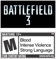 Battlefield 3 game logo with M rating