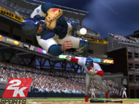 Collision at the plate in 'The Bigs 2'