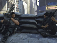 Dan Marshall sharing cover with a squadmate in Binary Domain