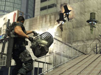 Dan Marshall using a heavy weapon in Binary Domain