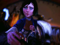 Elizabeth being draged away by a mechanized captor in BioShock Infinite