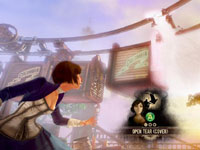 Elizabeth tearing the fabric of space-time in BioShock Infinite