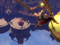 Using the Sky-Line handheld rail system in BioShock Infinite