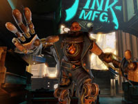 The mechanized Handyman opponent from BioShock Infinite