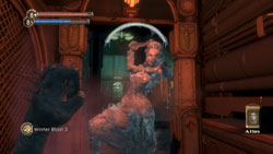 Using the biological power of a plasmid against an enemy in 'BioShock'