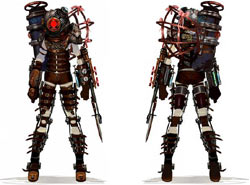 Big Sister front and back from BioShock 2