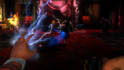 Multiplayer screen playing as one of the available characters BioShock 2