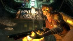 Crazed shotgun-wielding enemy from BioShock 2