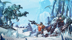 A Gunzerker character dual-wielding weapons against enemies in Borderlands 2