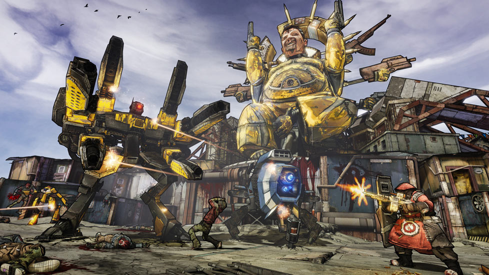 Huge Enemies In Action Borderlands 2