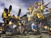 Huge enemies in action in Borderlands 2