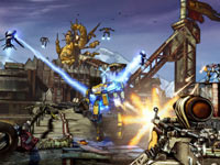 An FPS perspective in combat from Borderlands 2