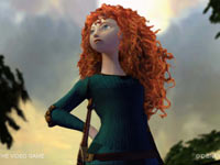 A close-up of Merida from Brave: The Video Game