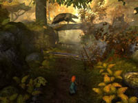 Merida entering bear territory in Brave: The Video Game