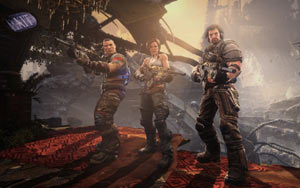 Grayson Hunt and his crew in Bulletstorm