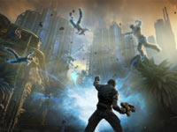 Raising your hand against enemies in Bulletstorm