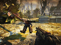 A carnivorous plant taking beating you to an enemy in Bulletstorm