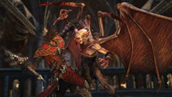 Gabriel about to stick it to a vamp in Castlevania: Lords of Shadow