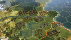 New hex oriented area sections in Sid Meier's Civilization V