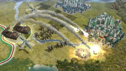 Ranged fire from behind enemy lines in Sid Meier's Civilization V