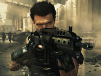 Frank Woods taking aim inside Call of Duty: Black Ops II
